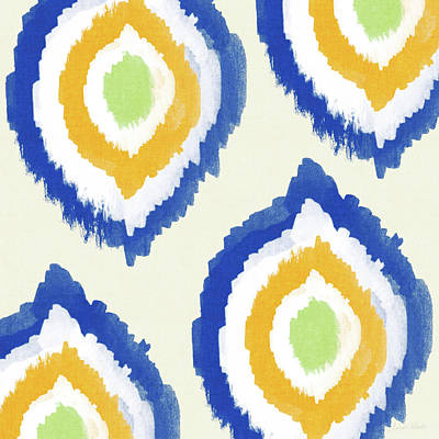 Pattern Painting - Summer Ikat- Art By Linda Woods by Linda Woods