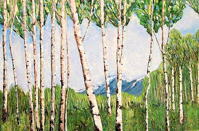 Painting - Summer In Alaska by Misuk Jenkins