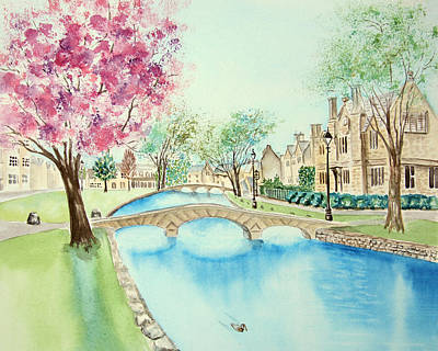 Summer In Bourton Art Print