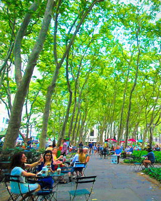 Summer In Bryant Park Art Print