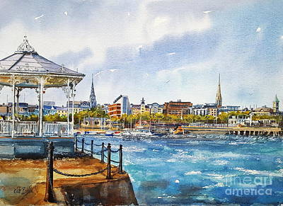 Bandstand Painting - Summer In Dun Laoghaire by Kate Bedell