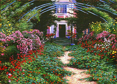 Nostalgia Painting - Summer In Giverny by David Lloyd Glover