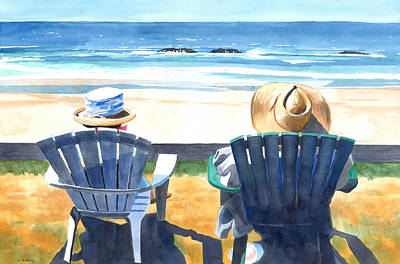 Summer Landscape Painting - Summer In Lincoln City by Melody Cleary