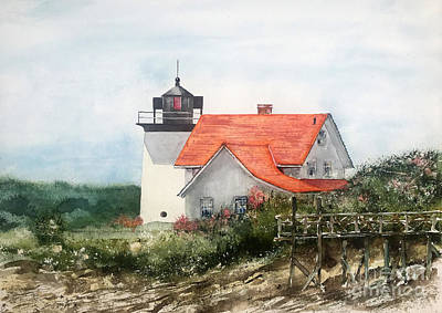 Painting - Summer In Maine by Monte Toon
