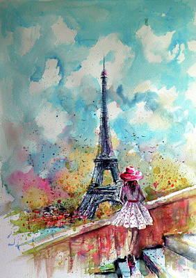Big Cities Painting - Summer In Paris by Kovacs Anna Brigitta