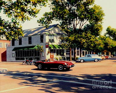 Jaguar E Type Painting - Summer In Saugatuck by Frank Dalton