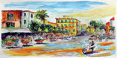 Vespa Mixed Media - Summer In Sorrento Italy Travel by Ginette Callaway