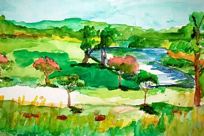 Painting - Summer In Streamway Park by Rachel Rose