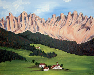 Painting - Summer In Switzerland by Marco Morales
