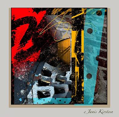 Abstract Movement Mixed Media - Summer In The City 2 by Janis Kirstein