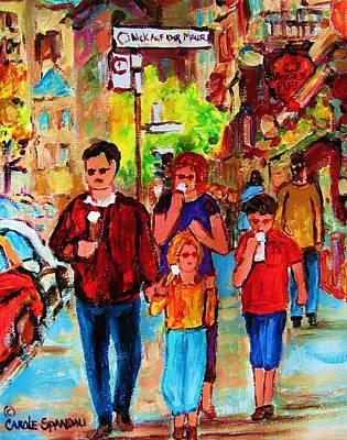 Summer In The City Art Print by Carole Spandau