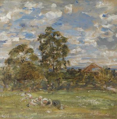 William Mctaggart Painting - Summer In The Garden. Broomieknowe by William McTaggart