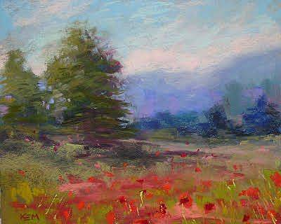 Painting - Summer In The Mountains by Karen Margulis