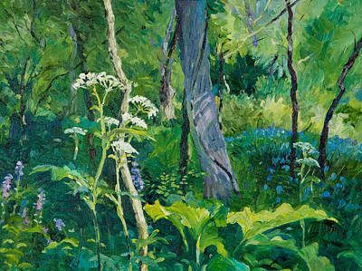 Painting - Summer In The Woods by Judith Barath