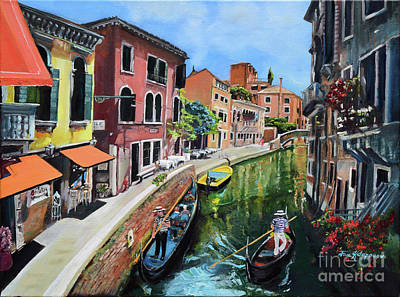 Painting - Summer In Venice - Venezia - Dreaming Of Italy by Jan Dappen