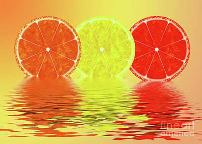 Grapefruit Digital Art - Orange,lemon,blood Orange by Ioannis K