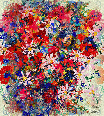 Painting - Summer Joy Bouquet by Natalie Holland