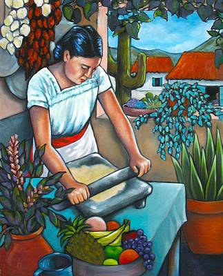 Tortillas Painting - Summer Kitchen by Lorraine Klotz