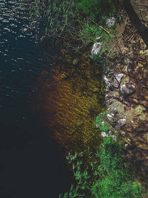 Aerial Photograph - Summer Lake - Aerial Photography by Nicklas Gustafsson