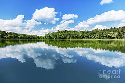 Photograph - Summer Lake Landscape. by Michal Bednarek