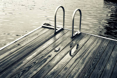 Swim Ladder Photograph - Summer Lake Swim by Tony Grider