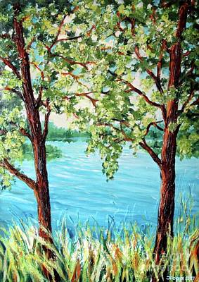 Painting - Summer Lake View by Inese Poga