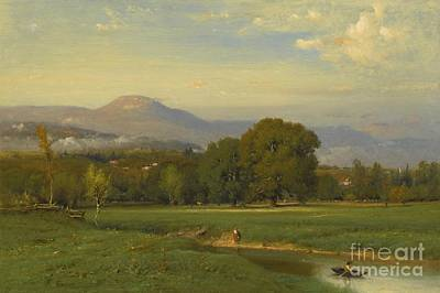 Painting - Summer Landscape by Celestial Images