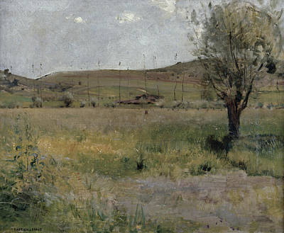 Summery Painting - Summer Landscape by Jules Bastien-Lepage