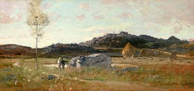 Summer Landscape Art Print by Luigi Loir