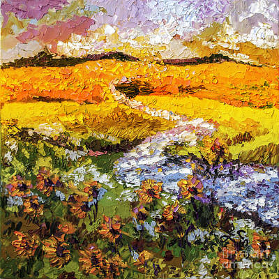 Painting - Summer Landscape Sunflowers Provence by Ginette Callaway
