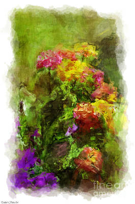 Photograph - Summer Lantana Garden - Digital Paint 4   by Debbie Portwood