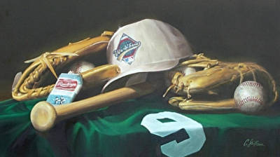 Baseball Art Painting - Summer Leather by Craig Shillam