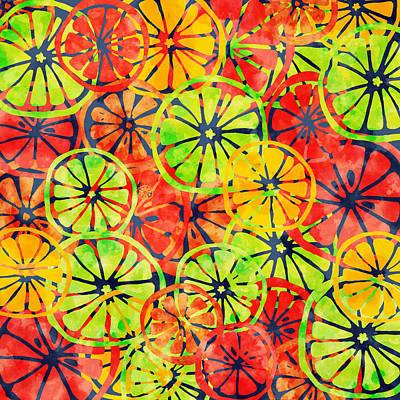 Grapefruit Digital Art - Summer Lemons by Jirka Svetlik