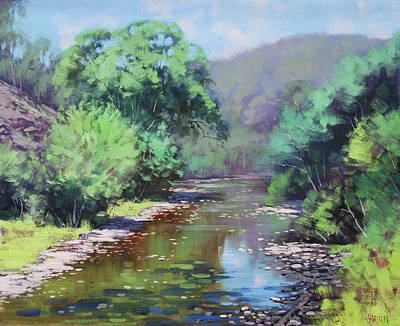 Willow Trees Painting - Summer Light Williwa Ck by Graham Gercken