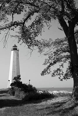 Photograph - Summer Lighthouse Bw by Karol Livote