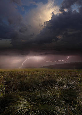 Thunderstorm Photograph - Summer Lights by Franz Schumacher