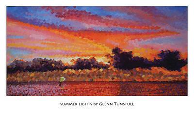 Painting - Summer Lights Poster by Glenn Tunstull