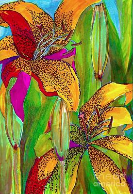 Drawing - Summer Lilies by Claudia Smaletz