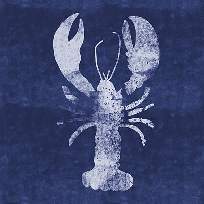Summer Lobster- Art By Linda Woods Art Print