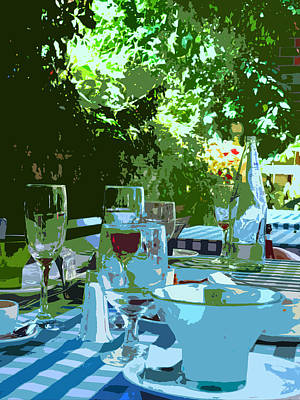 Photograph - Summer Lunch Remembered by Ian  MacDonald