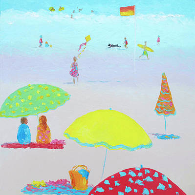 Seaside Art Painting - Summer Magic II by Jan Matson
