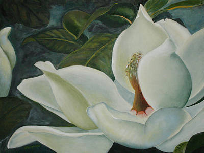 Painting - Summer Magnolia by Sandy Murphree Jacobs