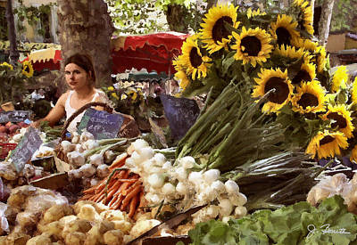 Photograph - Summer Market In Provence by Joe Bonita