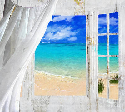 Sky Blue Painting - Summer Me Iv by Mindy Sommers
