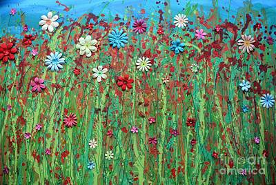 Pastel - Summer Meadow Flowers by Caroline Peacock