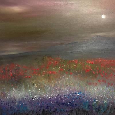Summer Meadow In The Moonlight Original