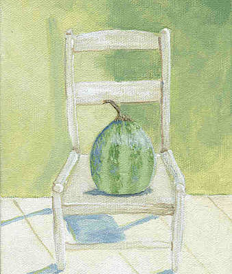 Ladderback Chair Painting - Summer Melon by Laurel Porter-Gaylord