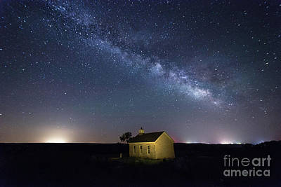 Photograph - Summer Milky Way At The Lower Fox Creek School by Jean Hutchison
