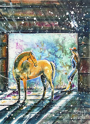Summer Morning At The Barn Original by Zaira Dzhaubaeva
