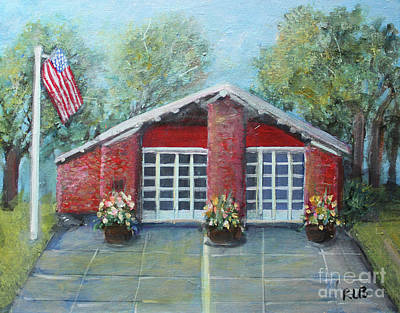 Painting - Summer Morning At Trapelo Road Fire Station by Rita Brown